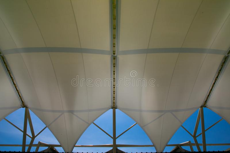 Fabric tensile roof royalty free stock image