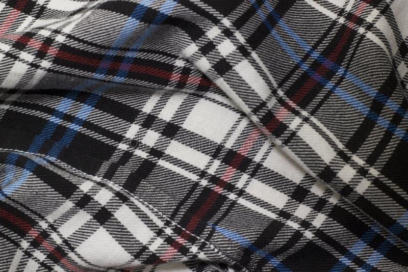 Fabric texture. Material cotton shirt curved closeup royalty free stock photos