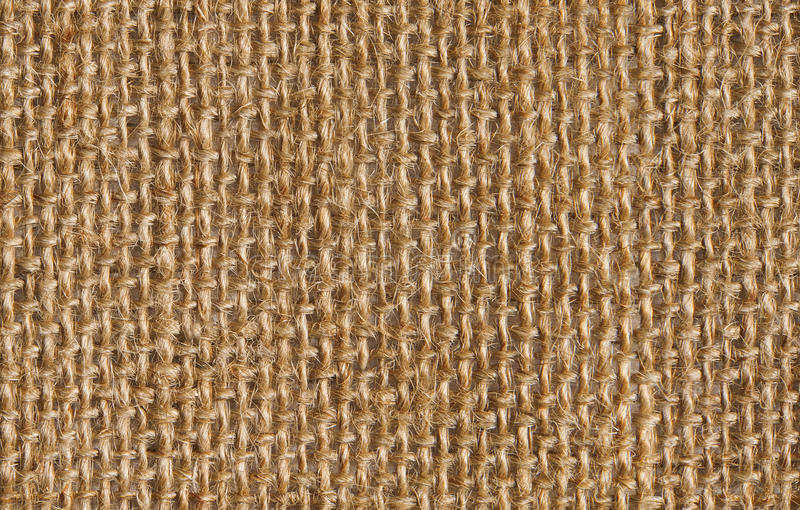 Fabric texture background of seamless linen sacking cloth. Hessian sackcloth royalty free stock image