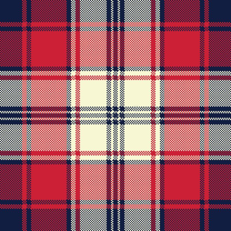 Fabric texture check plaid seamless pattern vector illustration
