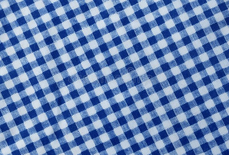 Blue and White Lumberjack Plaid Pattern Background. Fabric Texture, Close Up of A Blue and White Lumberjack Plaid Towel or Napkin Pattern Background royalty free stock image