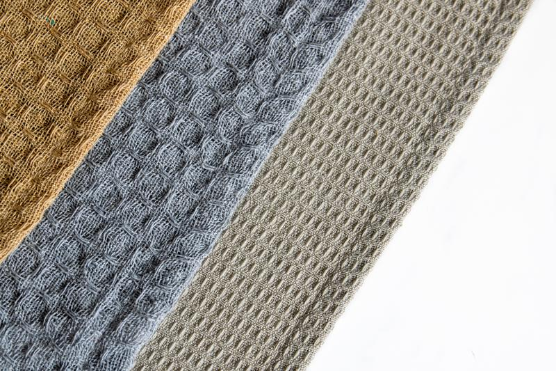 Fabric Texture Close Up. Three Different Cotton Kitchen ...