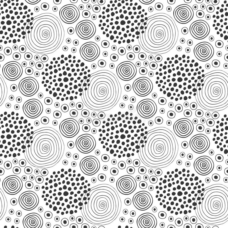 Fabric Texture. Fashion Seamless Pattern. Textile Design. Ethnic Background With Circles Stock ...