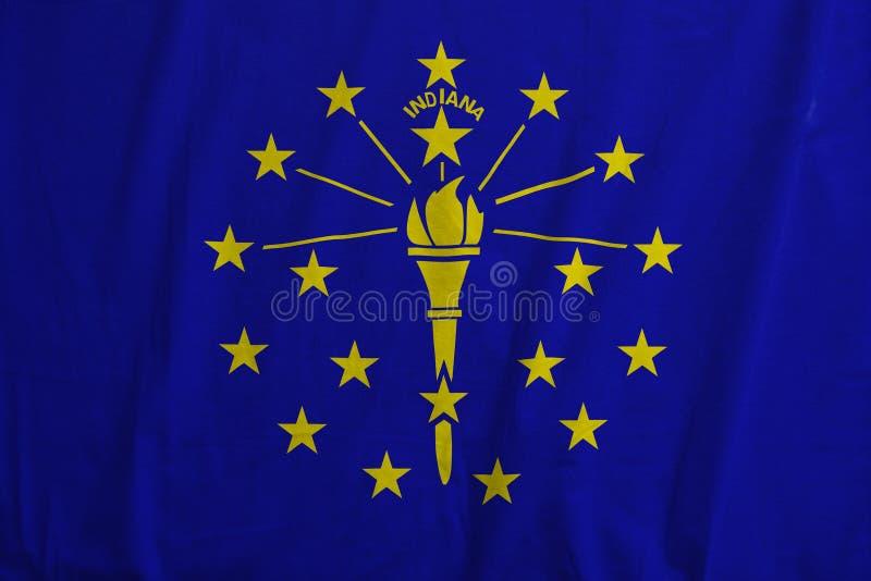 Flag of Indiana, USA waving. royalty free stock photos