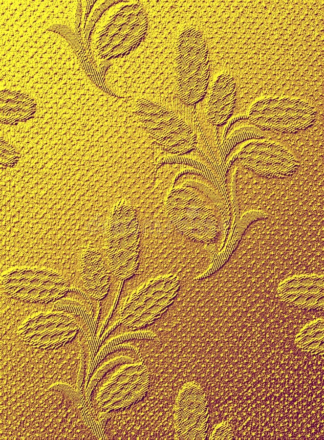 Fabric texture - golden royalty free stock photography
