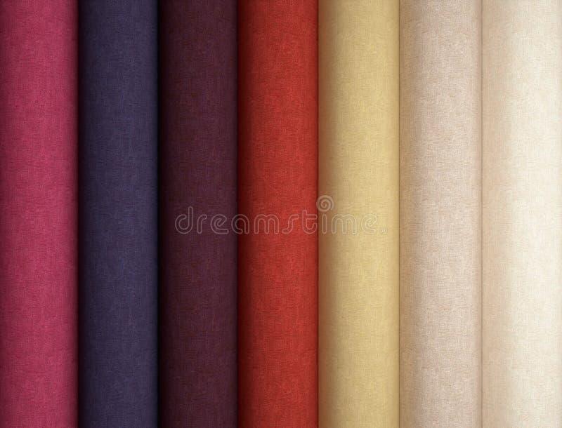Fabric texture sampler. stock illustration