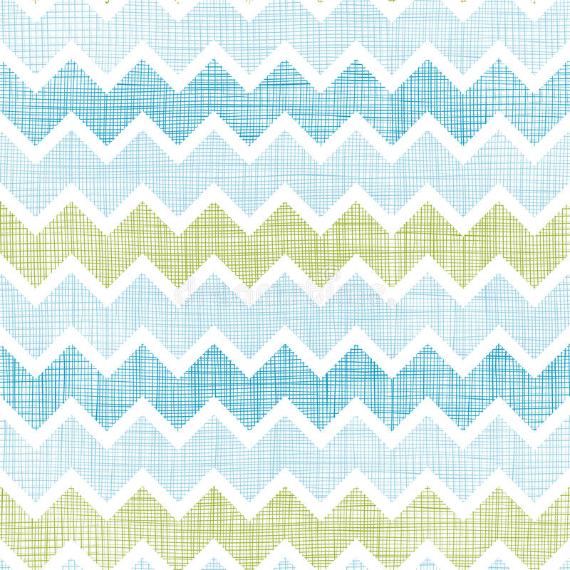 Fabric textured chevron stripes seamless pattern background stock illustration