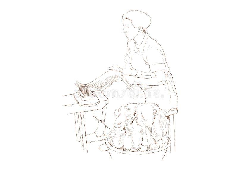Fabricação de linho ilustração do vetor