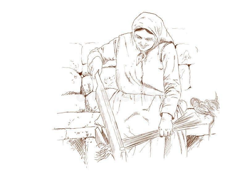 Fabricação de linho ilustração royalty free