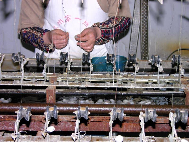 Fabricação de seda imagem de stock