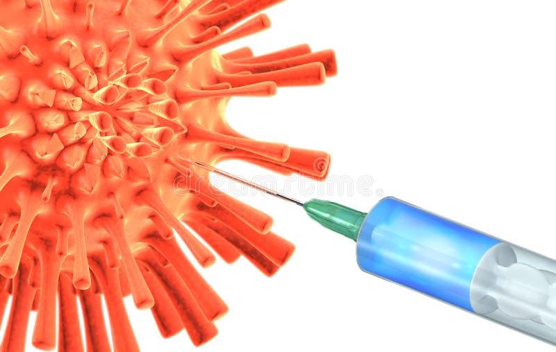 Fabricación antivirus de la vacuna stock de ilustración