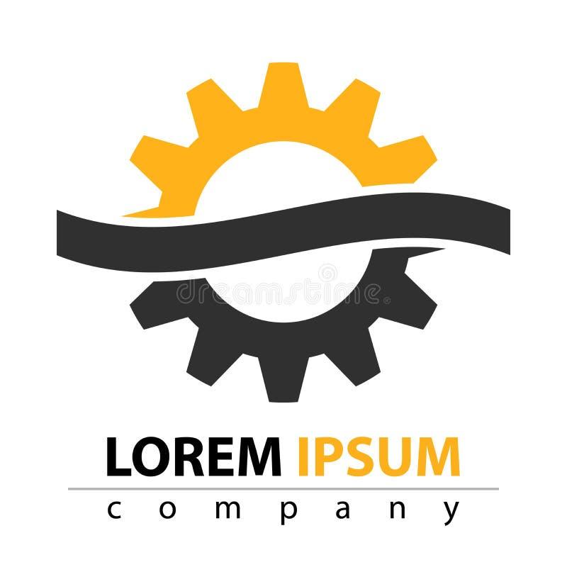 Fabricación, construcción, fábrica, manufactura - icono plano stock de ilustración