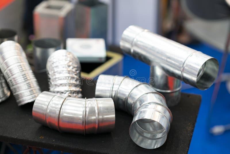 Fabricación de fabricación industrial de la hoja de acero para la sustancia química del agua del aire fotos de archivo