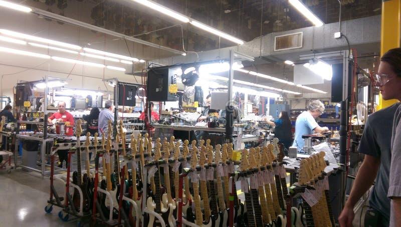 Fabricación de la guitarra fotos de archivo