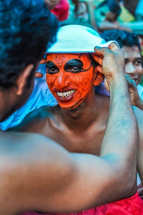 Fabricación de la máscara en Kerala imágenes de archivo libres de regalías