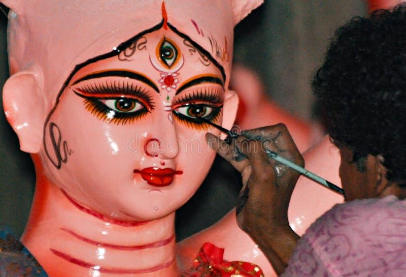 Fabricación de mA Durga imagenes de archivo