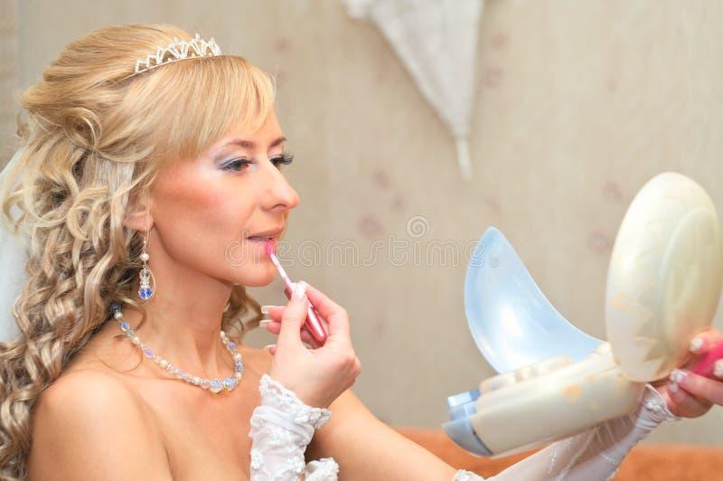 Fabricación de maquillaje imagenes de archivo