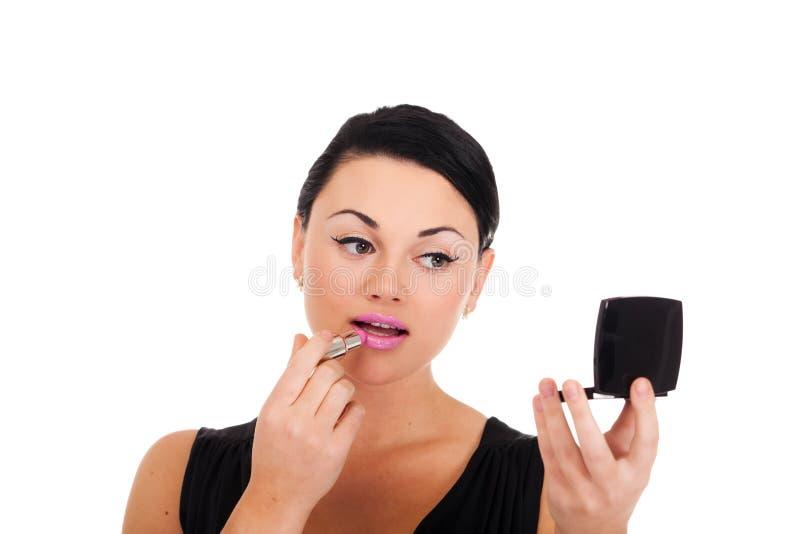Fabricación de maquillaje foto de archivo