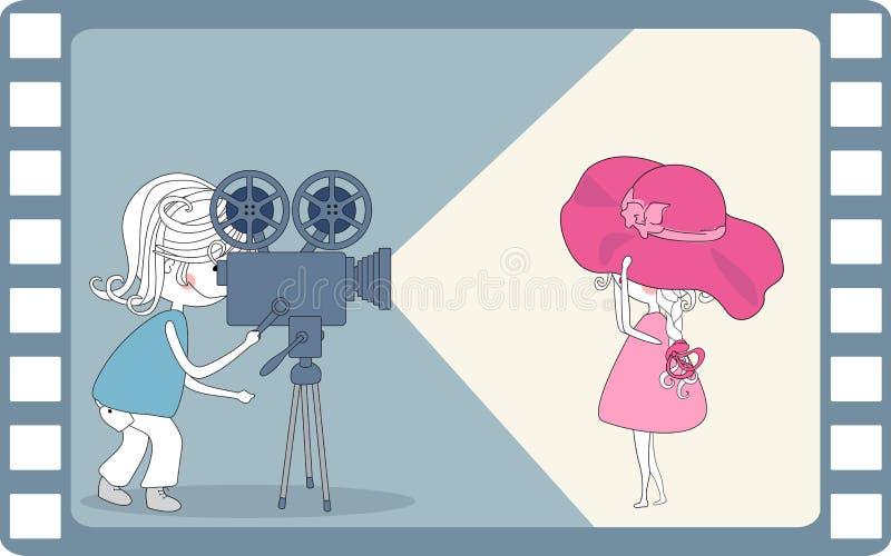 Fabricación de película stock de ilustración