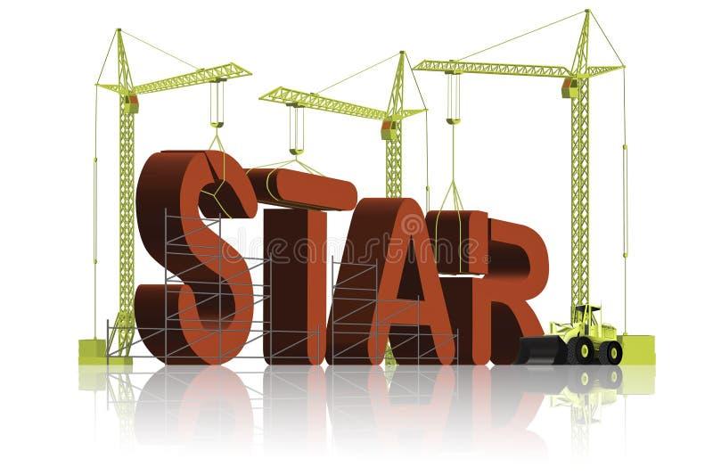 Fabricación de una estrella stock de ilustración