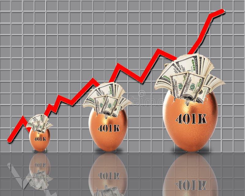Fabricación del dinero para el retiro stock de ilustración