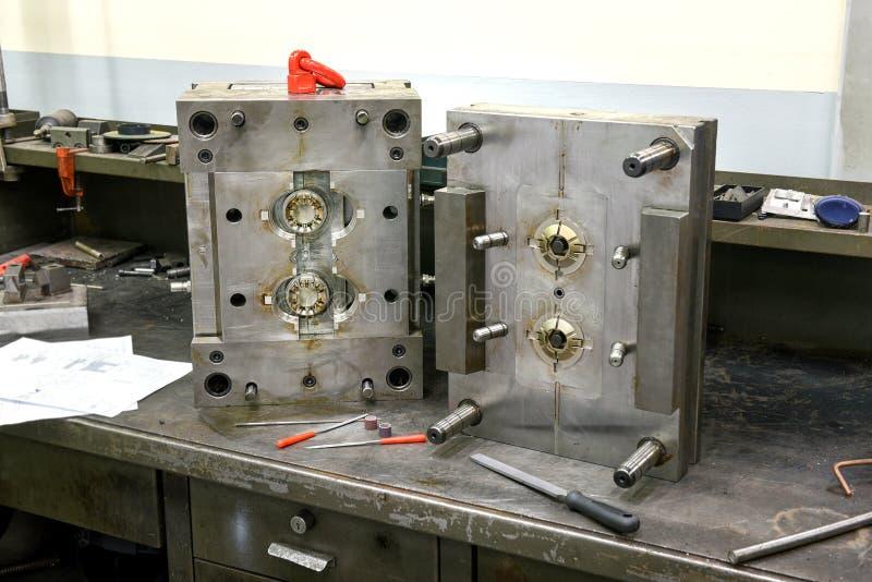 Fabricación del molde de metal imagen de archivo libre de regalías