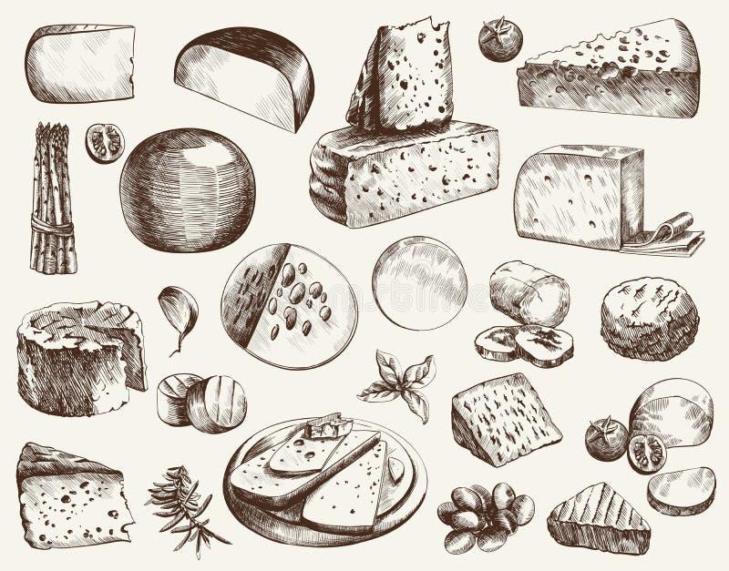 Fabricación del queso ilustración del vector