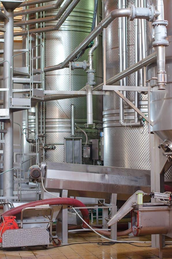 Fabricación del vino. imagen de archivo