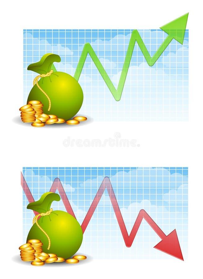Fabricación y dinero perdidoso ilustración del vector