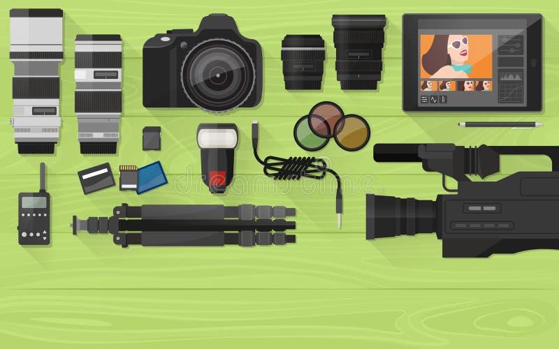 Fabricación y fotografía del vídeo libre illustration