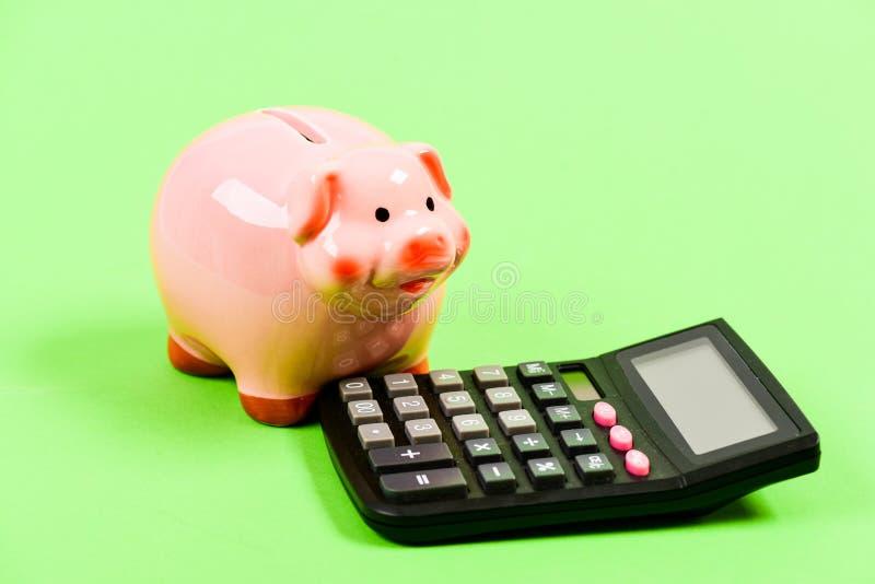 Fabricaci?n del dinero casa de la contabilidad o de cuenta Problema financiero gestión del capital de la renta planeamiento y pre foto de archivo
