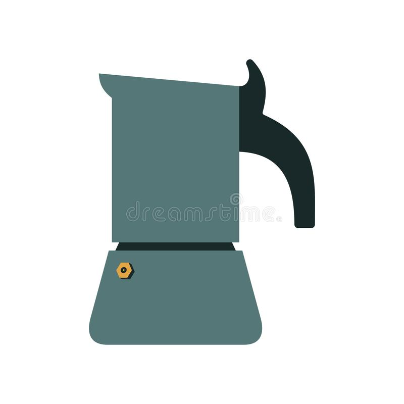 Fabricant de café de geyser illustration stock