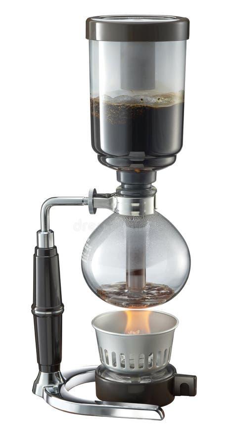 Fabricant de café de Shiphone à l'arrière-plan blanc image stock