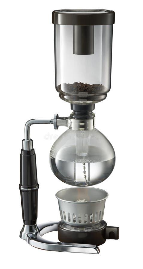 Fabricant de café de Shiphone à l'arrière-plan blanc photographie stock