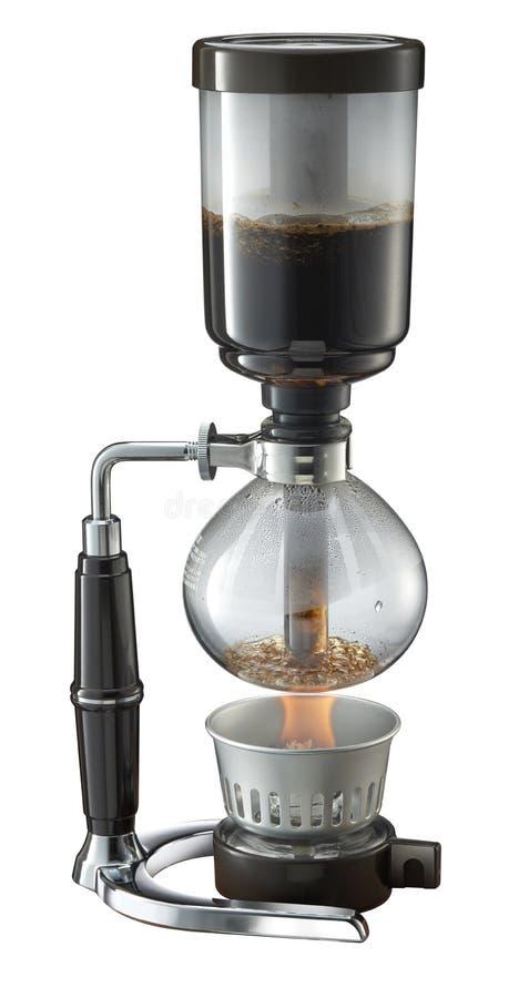 Fabricant de café de Shiphone à l'arrière-plan blanc photo libre de droits