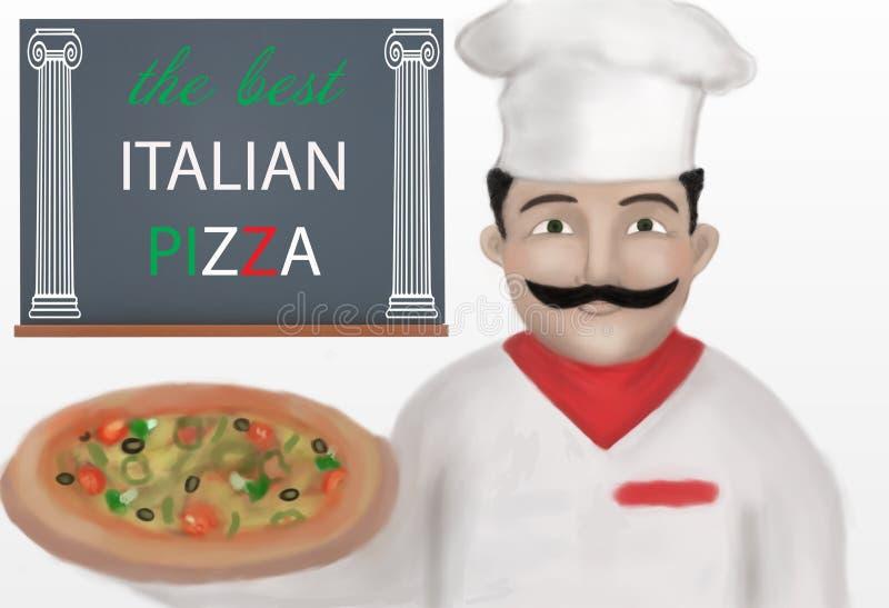Fabricant de pizza illustration stock