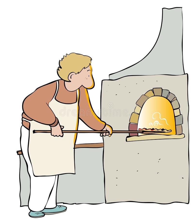 Fabricant de pizza illustration de vecteur