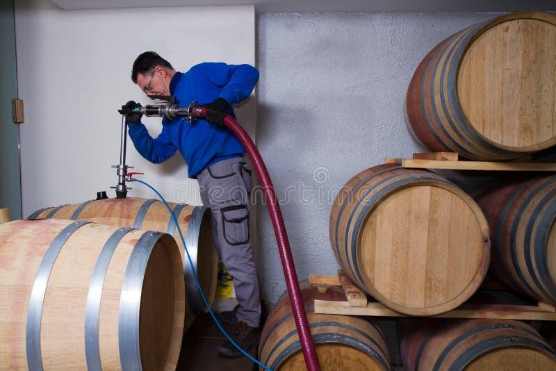 Fabricant de vin de cave photographie stock