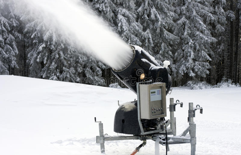 Fabricante da neve fotografia de stock royalty free