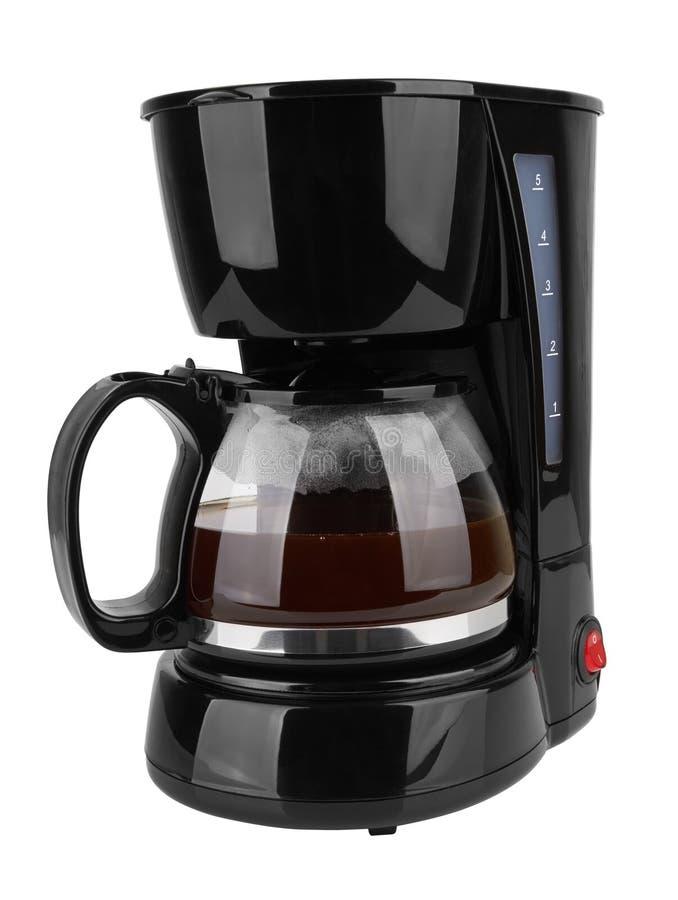 Fabricante de café aislado fotografía de archivo