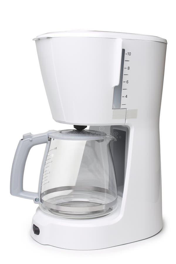Fabricante de café del goteo con el pote de cristal imagen de archivo libre de regalías