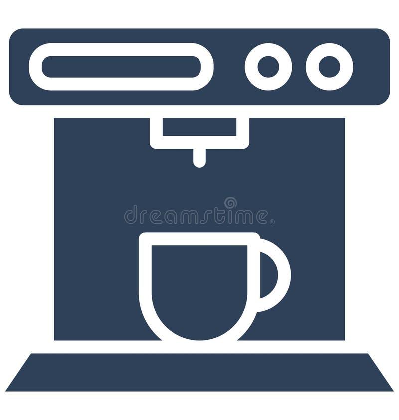 Fabricante de café, icono aislado del vector del fabricante de café express que puede ser corregido fácilmente en cualquier tamañ ilustración del vector