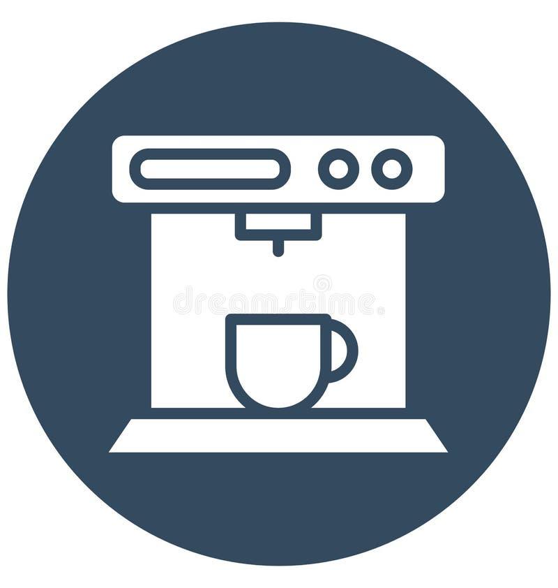 Fabricante de café, icono aislado del vector del fabricante de café express que puede ser corregido fácilmente en cualquier tamañ stock de ilustración