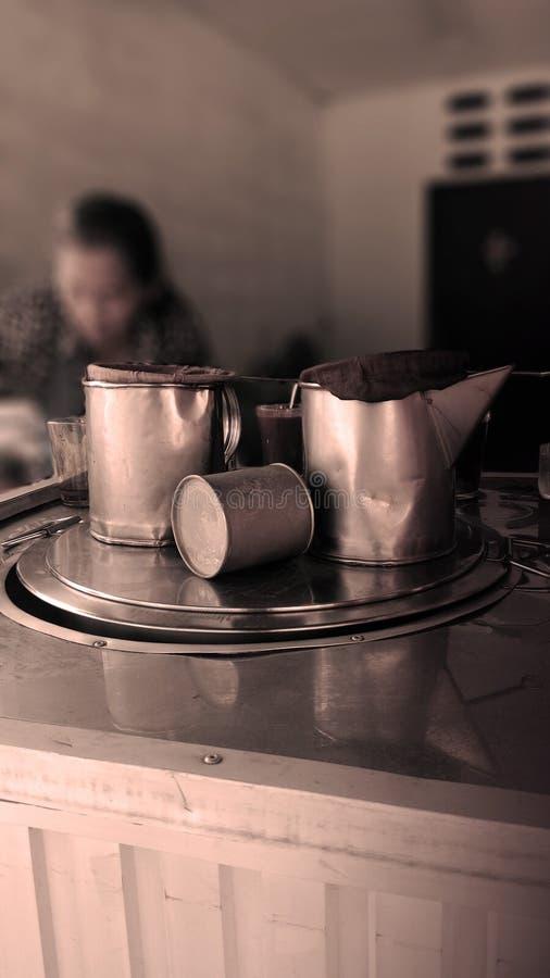 Fabricante de café tailandês imagem de stock