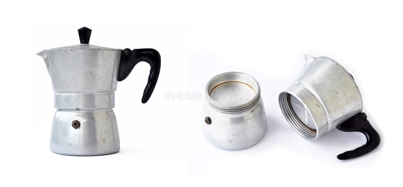 Fabricante de café viejo imagenes de archivo