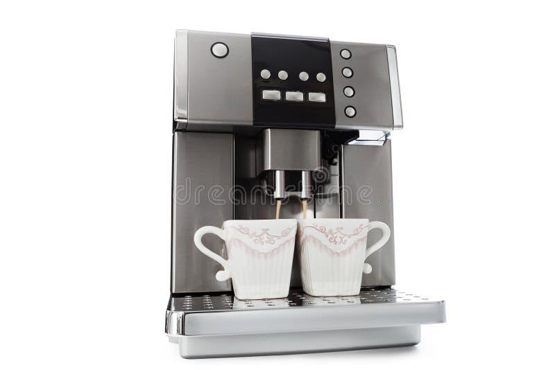 Fabricante de caf? autom?tico para dos tazas de caf? foto de archivo libre de regalías