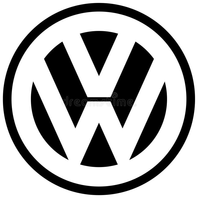 Fabricante de carro do ícone do logotipo da VW de Volkswagen ilustração royalty free