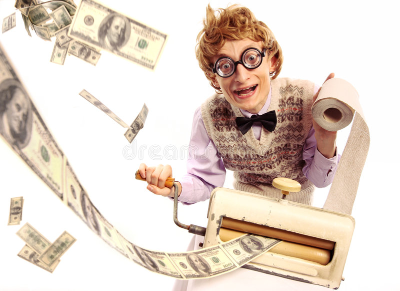 Fabricante de dinheiro fotografia de stock