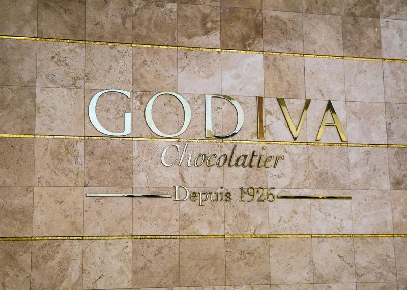 Fabricante de Godiva do chocolate belga imagem de stock royalty free