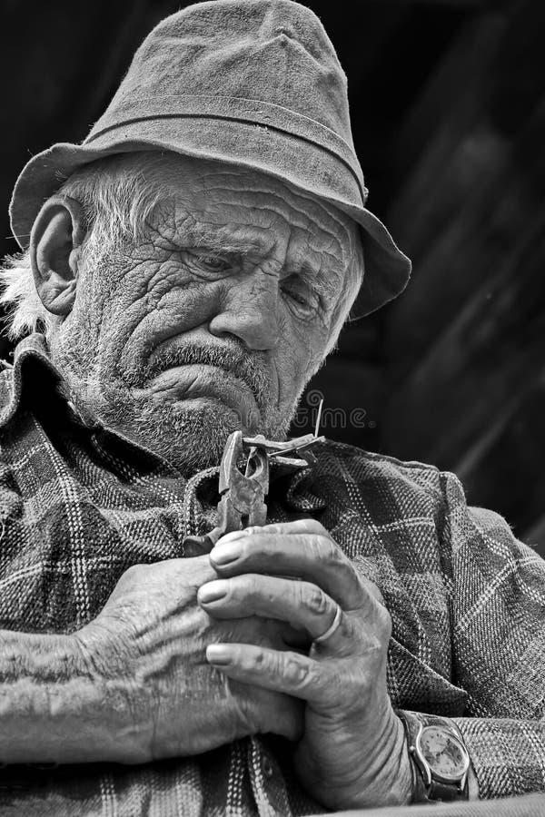 Fabricante de la arpa de los judíos foto de archivo libre de regalías